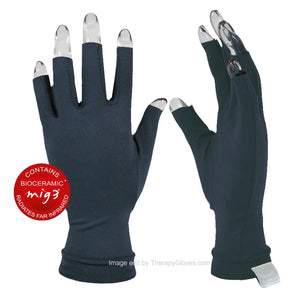 Dark Blue Far Infrared 3/4 Finger Actiive Gloves