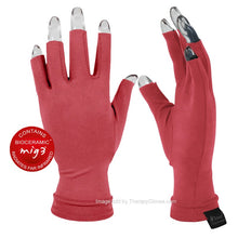 Coral Colored Far Infrared 3/4 Finger Actiive Gloves