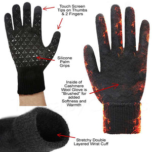 Warm Touch Screen Wool Cashmere Gloves