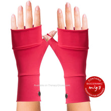 Coral Colored MIG3 Bioceramic No Finger Infrared Wrist Gloves for Arthritis