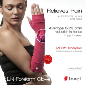 Invel® Actiive Forearm Gloves are made with Bioceramic infused MIG3® Polyamide fiber.