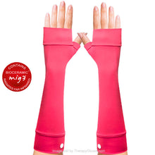 Bioceramic Long Arm Gloves - Coral Color. Good for Tendonitis and arm pain