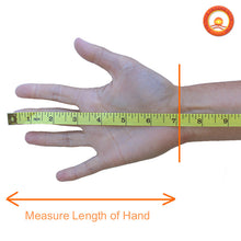 Measure Hand for FULL FINGERTIP STRETCHY KNIT Far Infrared Therapy Gloves