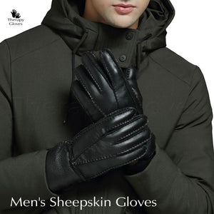 Gloves for Men - Stay Warm with Genuine Sheepskin Leather Gloves