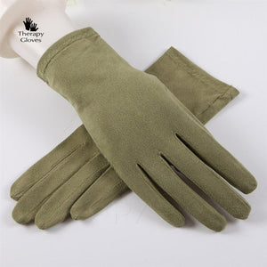 Buy Avacado Green Nu Suede Anti-Slip Driving Gloves
