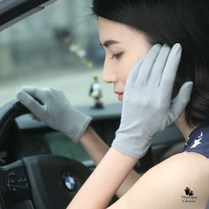 Summer Fashion Grip Soft Grey Women's Gloves for Driving
