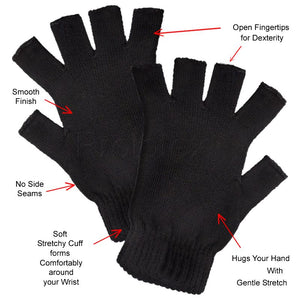 Features of OPEN FINGERTIP Far Infrared Therapy Gloves