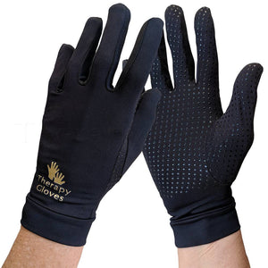 Therapeutic COPPER Full Finger Gloves with Grips
