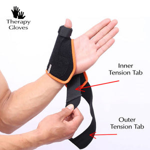 Dual closure tabs for premium thumb & wrist support