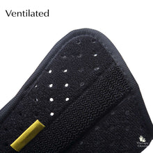 Wrist Brace: Perforated composite material covered with super soft plush fabric.