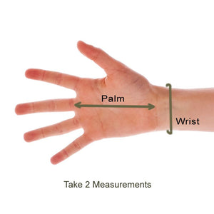 Measure for OPEN FINGERTIP Far Infrared Therapy Gloves