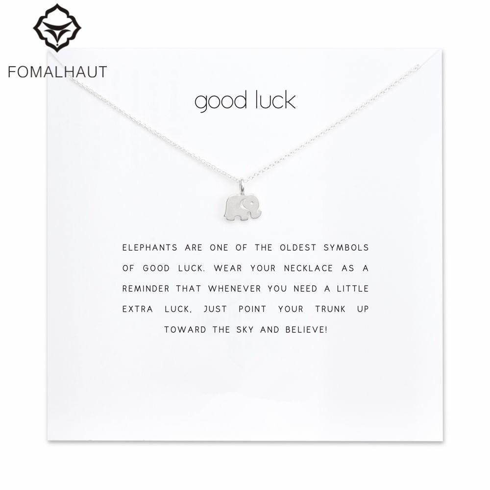 "Elephant ""Good luck"" Pendant Necklace"