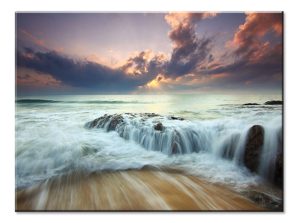Fascination Ocean and Sea Canvas: Large Body Of Water Sunset - 1 panel XL