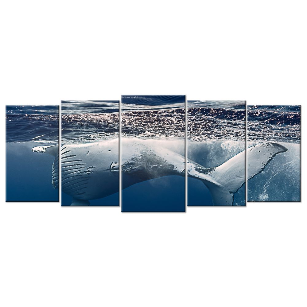 Sealife Humpback Whales Canvas - 5 panels XL