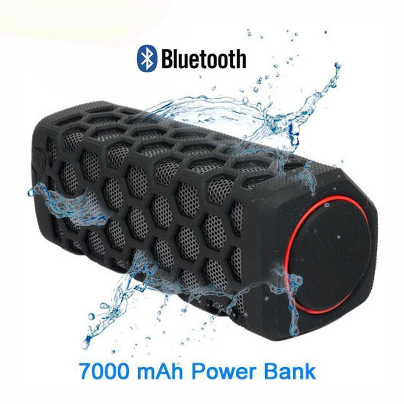 """The Rock"" Outdoor Bluetooth Waterproof Speaker and Power Bank Combo"