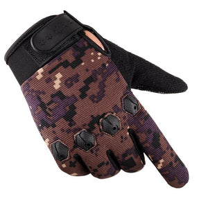 Winter Cashmere Camouflage Cycling Gloves