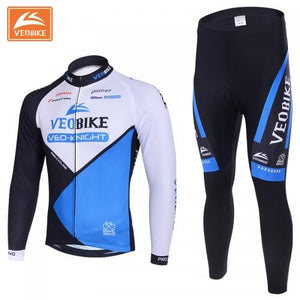 VEOBIKE Winter Thermal Cycling Jersey Set