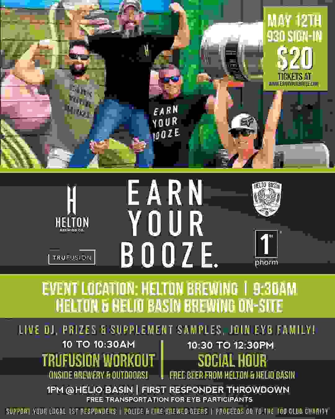 EARN YOUR IPA | EARN YOUR BOOZE | Helton Brewing Co w/ TruFusion (MAY 12 2018)Earn Your Booze