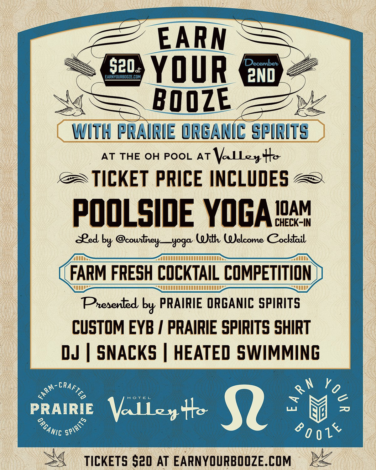 EARN YOUR VODKA | Valley Ho | Prairie Organic Spirits | December 2ndEarn Your Booze