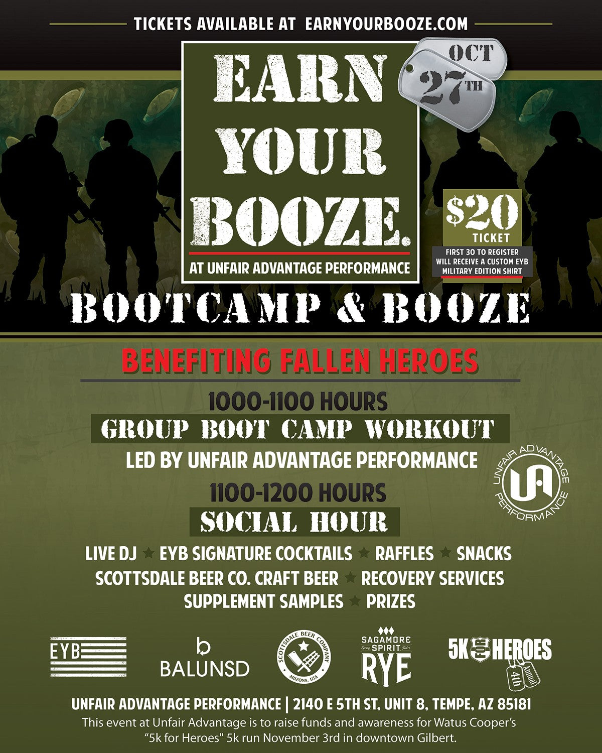 EARN YOUR WHISKEY | Bootcamp & Booze w/ Unfair Advantage 28OCT18Earn Your Booze