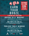 Labor Day weekend EYB events! Choose SAT -or- SUN Earn Your Booze