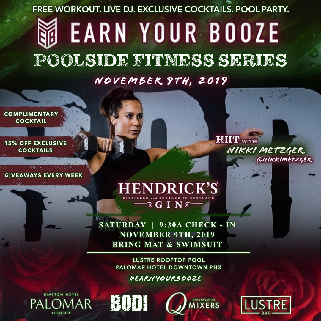 NOV 9th | Nikki Metzger & Hendrick's Gin | EARN YOUR GINEarn Your Booze