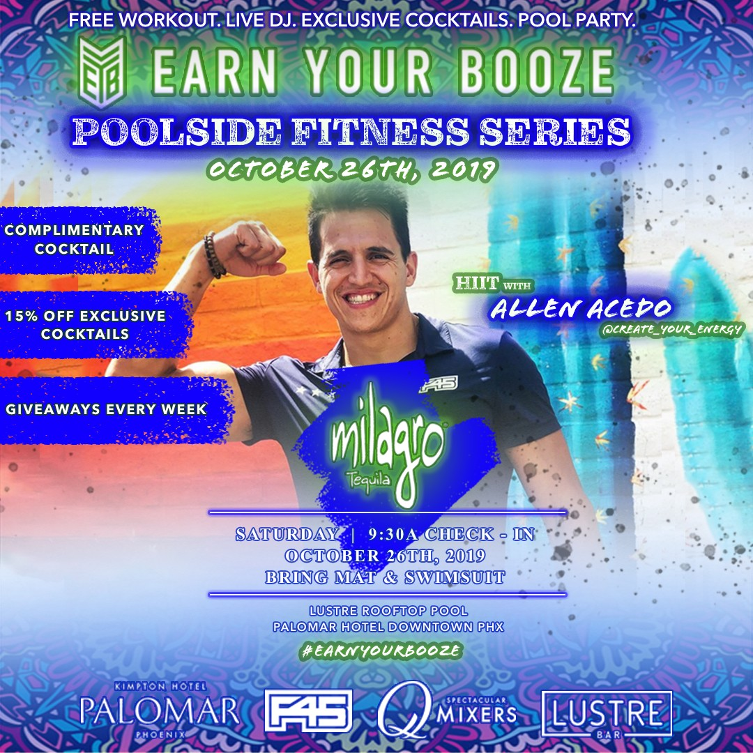 OCT 26th | Allen Acedo & Milagro Tequila | EARN YOUR TEQUILA | EARN YOUR BOOZEEarn Your Booze