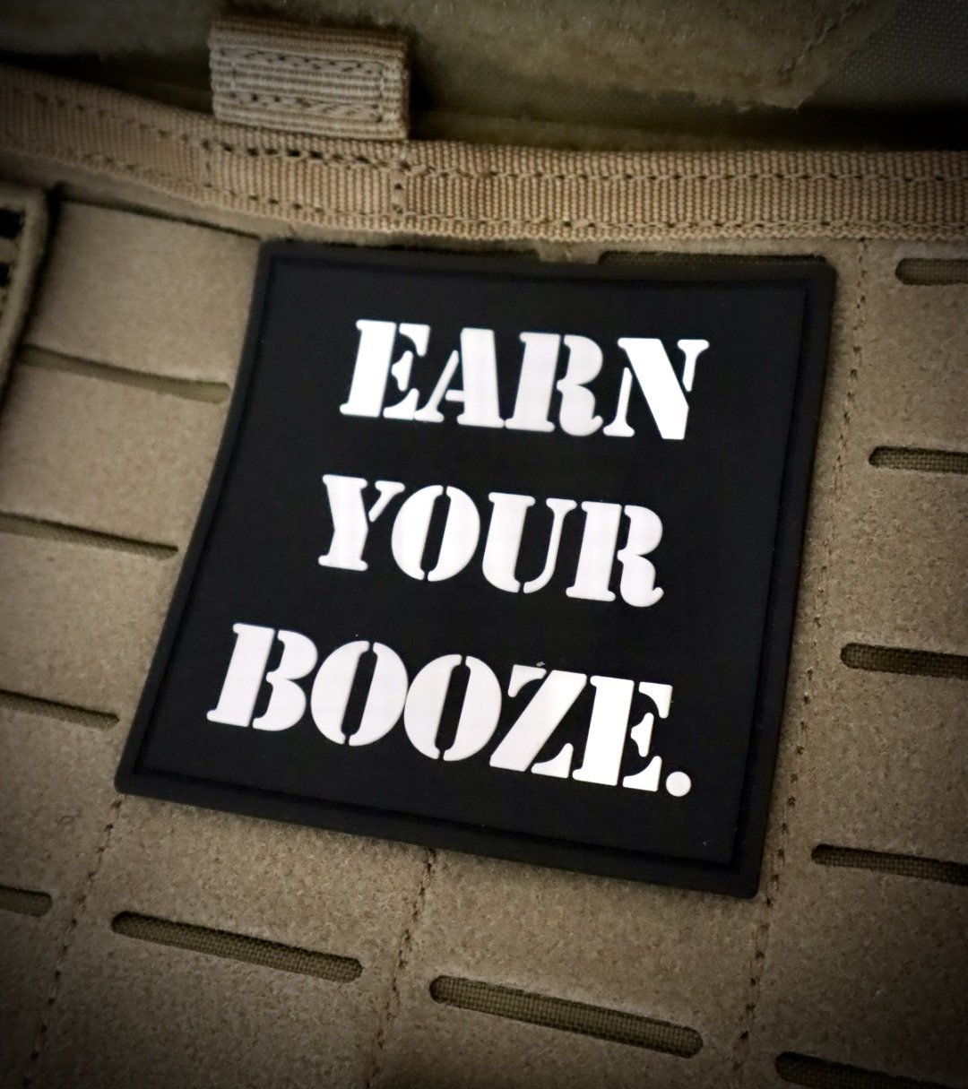 VETERAN PATCH (PVC) Earn Your Booze