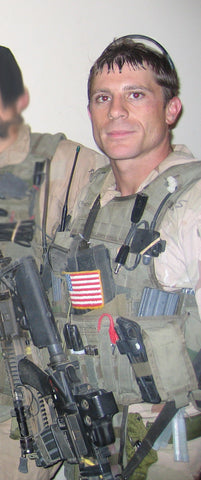 Jamey Caldwell promoted to C&G Holsters pro staff pictured in a special operations unit during a deploymenty to Iraq