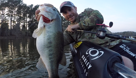 Jamey Caldwell promoted to C&G Holsters pro staff pictured fishing the FLW tour