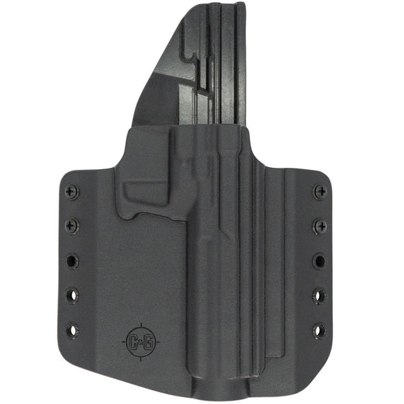 This is the C&G Holsters Kel-tec CP33 outside the waistband holster in right hand and black.