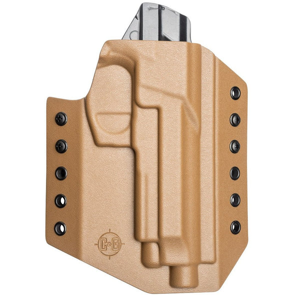 C&G Holsters custom Covert OWB kydex holster for Beretta M9A3, M9A1, M9, 92/96 in coyote