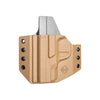 C&G Holsters custom Covert OWB kydex holster for Smith & Wesson M&P Shield 45 in coyote brown front view without gun