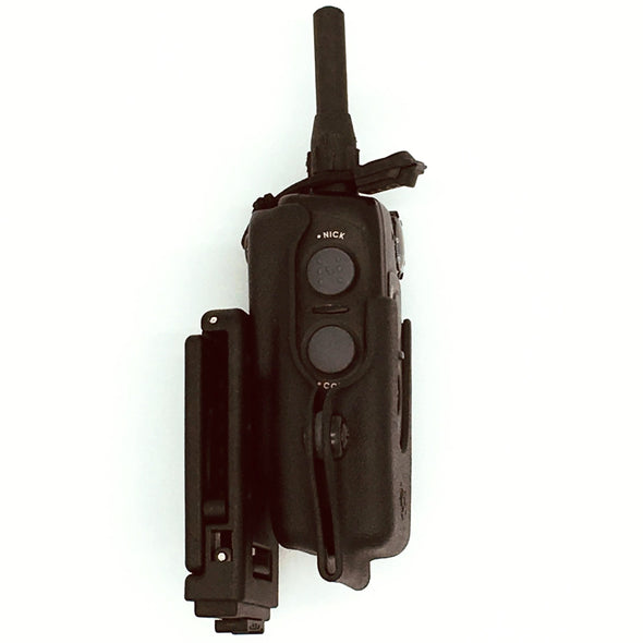Shown is the C&G Holsters SK9 e-collar holder for the Dogtra 2300 series. .
