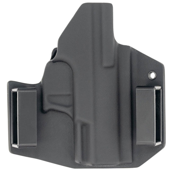 This is a C&G Holsters Covert series outside the waistband for the Walther PK380 (rear view) in right hand.