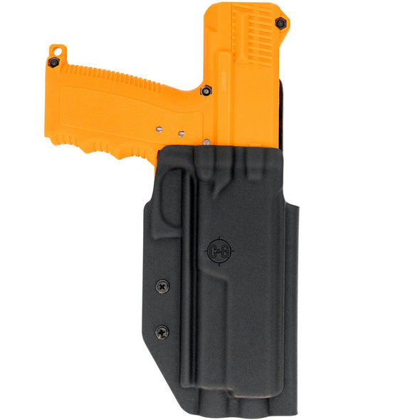 This is the C&G Holsters oustide the waistband holster for the Tippman TiPX and Misson Less Lethal TRP.