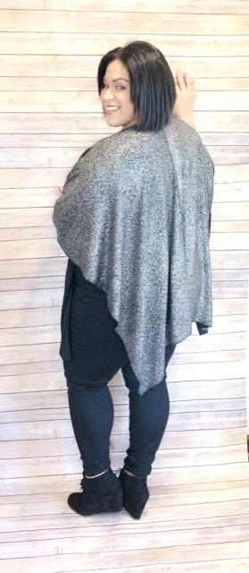 Black Wrap with Silver Shimmer | Cheeky Cactus
