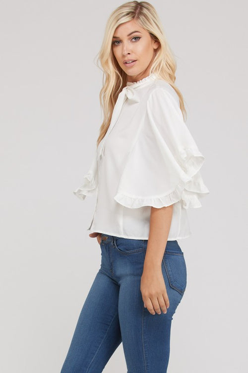 Front Tie Ruffle Top | Cheeky Cactus