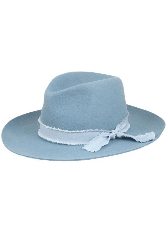 Wool Felt Panama Hat with Matching Trim | Cheeky Cactus