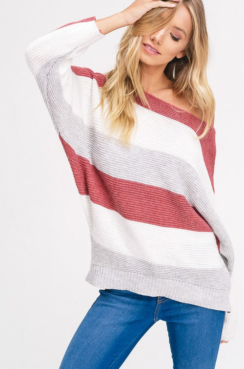 Rust Striped Sweater | Cheeky Cactus