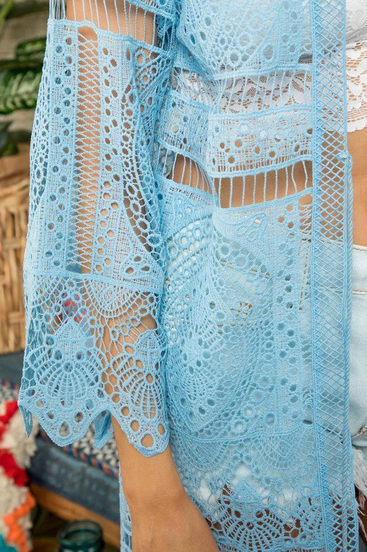 Boho Scallop Edge Sleeve and Bottom Maxi Crochet | Cheeky Cactus
