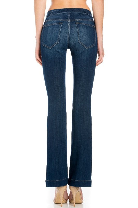 Cello Mid-Rise Flare Jegging | Cheeky Cactus