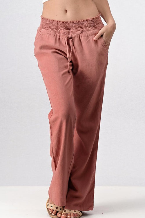 Drawstring Linen Pants | Cheeky Cactus