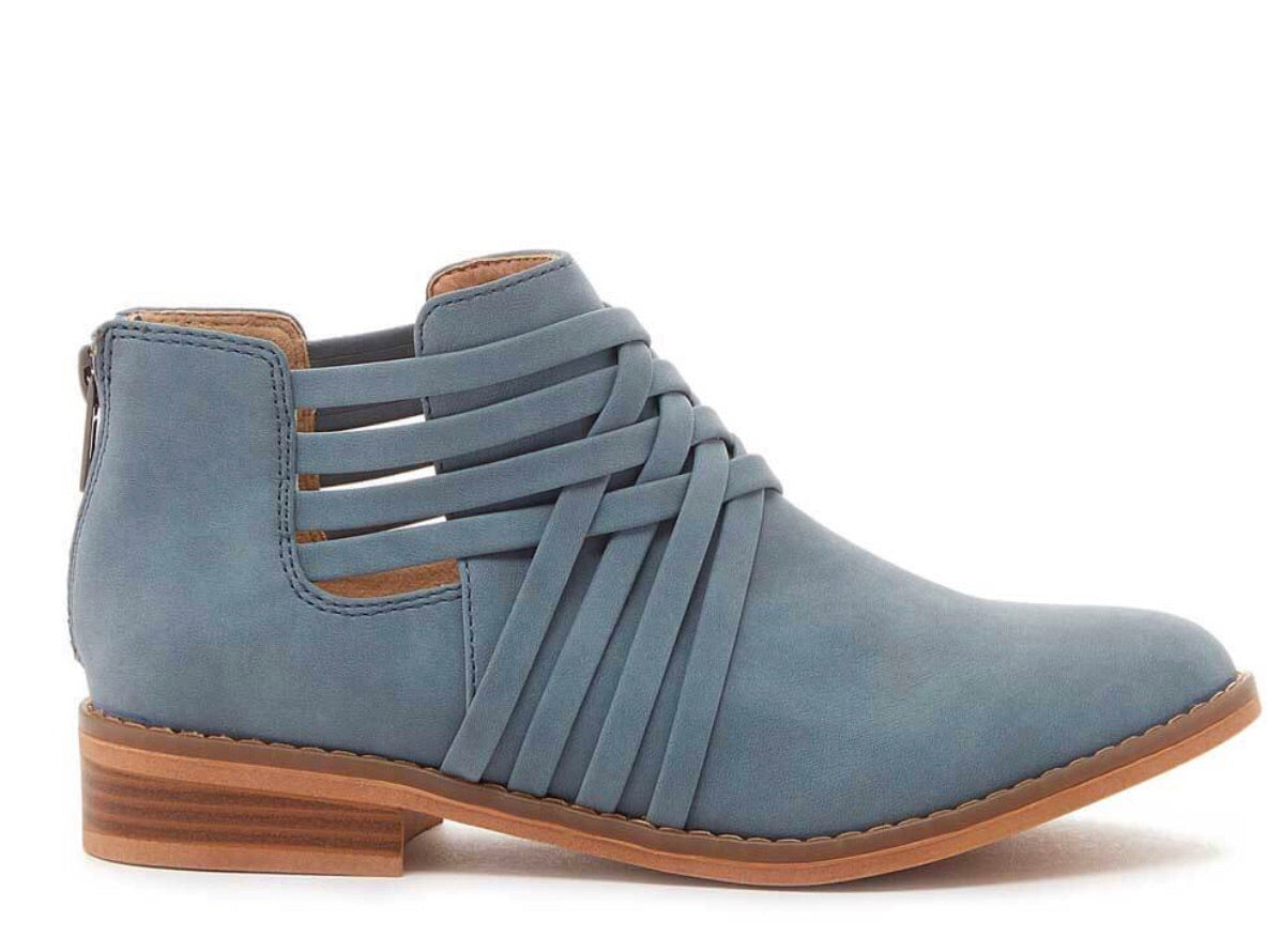 Ankle bootie light blue or black - Cheeky Cactus
