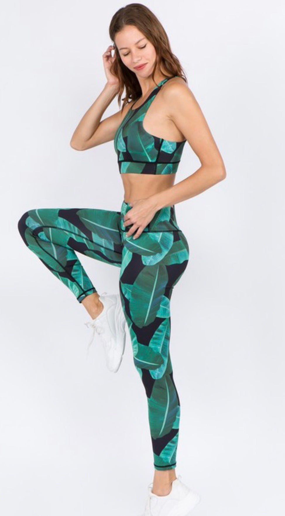 Cheeky Fit Palm Springs Print Sports Bra | Cheeky Cactus