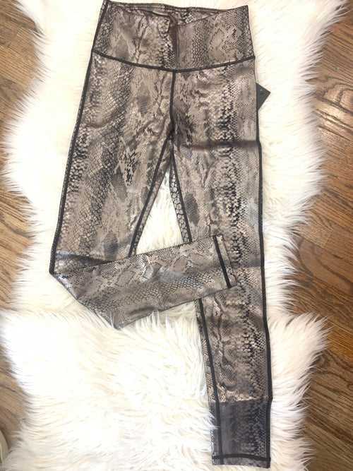 Snake Skin Shimmer Foil High-Waisted Leggings | Cheeky Cactus