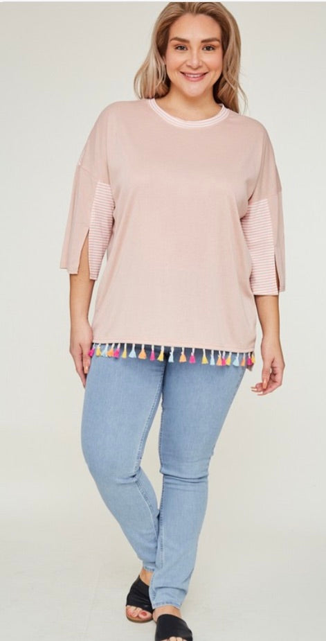 Pretty in Pink Tassel Top | Cheeky Cactus