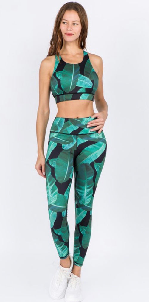 Cheeky Fit Palm Springs Print Leggings | Cheeky Cactus