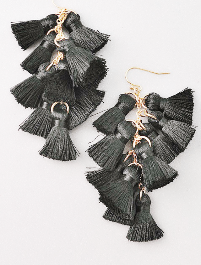 Teared tassel earrings | Cheeky Cactus