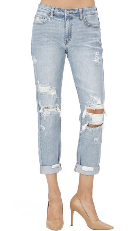 Frankie Low Rise Girlfriend Jeans - Cheeky Cactus